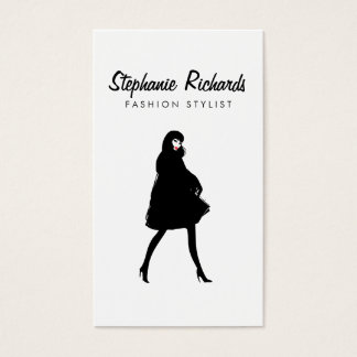 Mod Fashion Girl III Stylist, Boutique Business Card