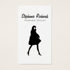 Mod Fashion Stylist, Boutique Business Card at Zazzle