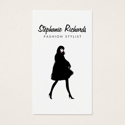 Boutique Consignment Fashion Designer Closet Business Card