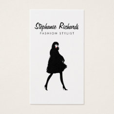 Mod Fashion Stylist, Boutique Gold Business Card at Zazzle