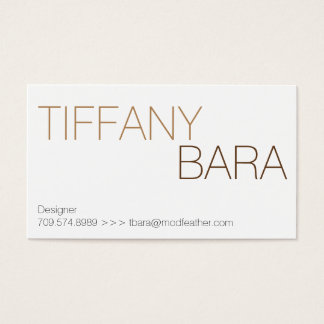 Mod Feather Business Cards