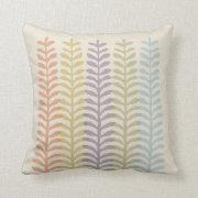 Mod Ferns Throw Pillows