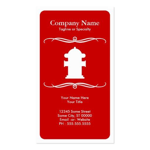 mod fire hydrant business card
