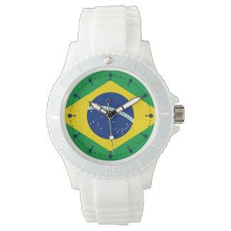 Mod Flag of Brazil Silicone Sport Watch