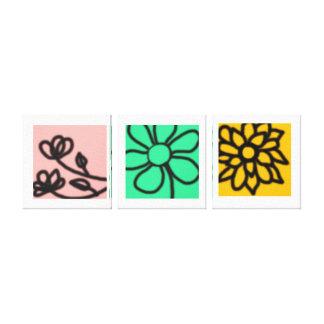 Mod Floral Art Set Canvas Print