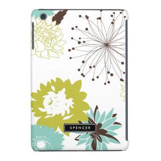 Mod Floral Pattern Personalized iPad Mini Case