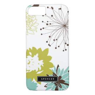 Mod Floral Pattern Personalized iPhone 7 Case