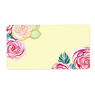 Mod Floral Roses Modern Art Flower Weddings Custom Shipping Labels