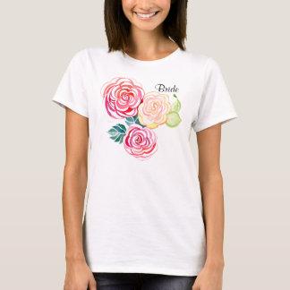 Mod Floral Roses Modern Art Flower Weddings T-Shirt