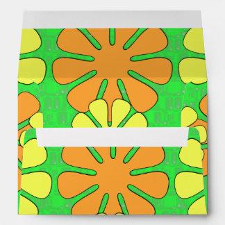 Mod Flower Design Envelope