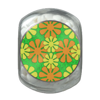 Mod Flower Design Jelly Belly Candy Jar