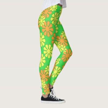Mod Flower Design Leggings