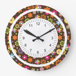Mod Flower Large Clock