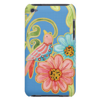 Mod Flowers Cute Fun Bird Floral Swirl Pattern Art Barely There iPod Case