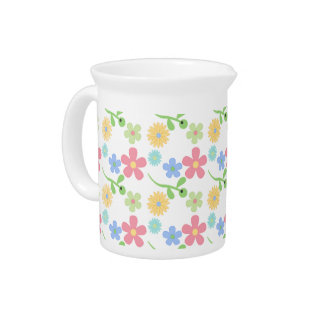 Mod Flowers Drink Pitcher
