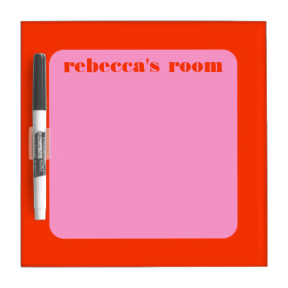 Mod Frame Personalized Name Message Board Dry Erase Board