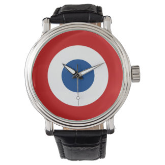 Mod French Roundel Leather Band Watch