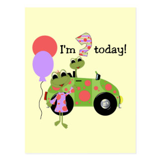 Mod Frogs 2nd Birthday Tshirts and Gifts Postcard
