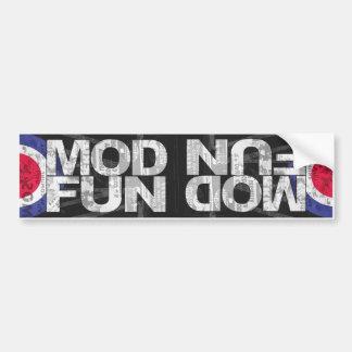 MOD FUN dual bumper stkr Bumper Sticker