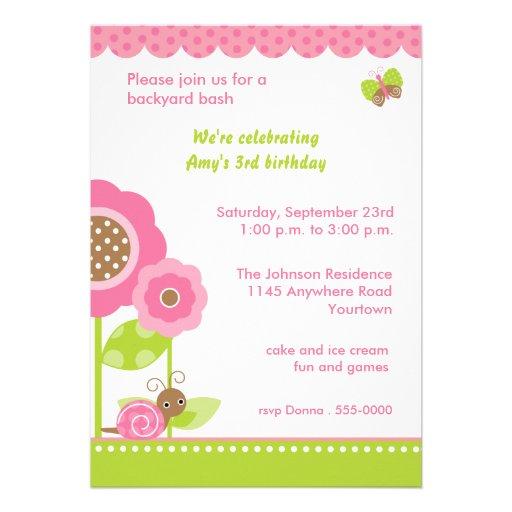 Mod Garden Birthday Party Invitation