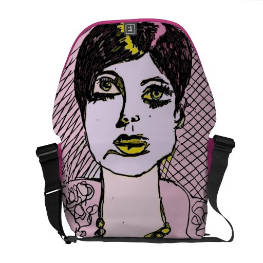 Mod Girl Bag by artist Katie Pfeiffer Commuter Bags
