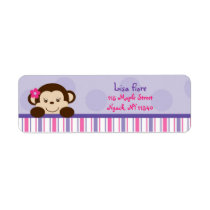 Mod Girl Monkey Address Labels