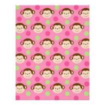 Mod Girl Monkey Baby Scrapbook Paper