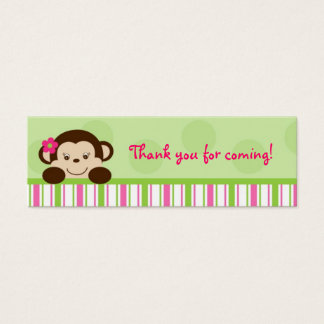 Mod Girl Monkey Monkey Party Favor Gift Tags