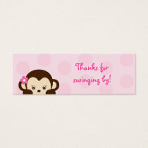 Mod Girl Monkey Party Favor Gift Tags