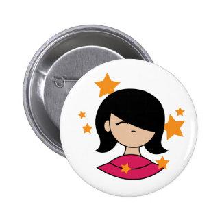 Mod Girl Pinback Button