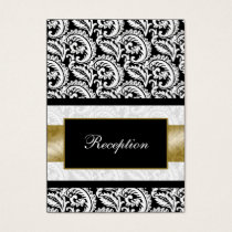 mod gold damask Reception   Cards