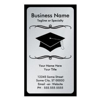 mod grad cap business card