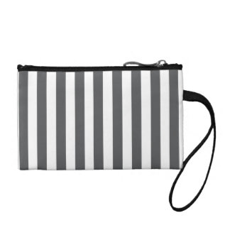 Mod Gray Stripes Pattern Change Purse