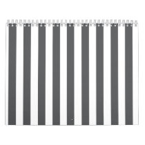Mod Gray Stripes Pattern Calendar