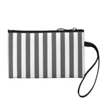 Mod Gray Stripes Pattern Coin Wallet