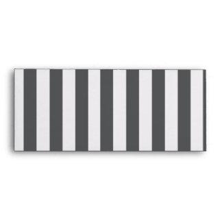 Mod Gray Stripes Pattern Envelope