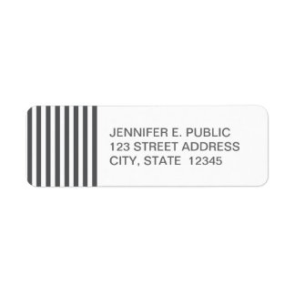 Mod Gray Stripes Pattern Label