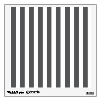 Mod Gray Stripes Pattern Wall Decal