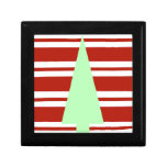 Mod Green and Red Christmas Tree Jewelry Boxes