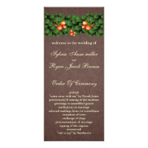 mod green brown Wedding program