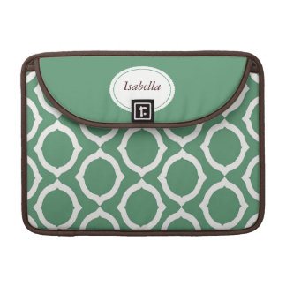 Mod Green Circles Rickshaw Sleeve for MacBook Pro
