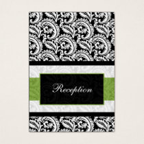 mod green damask Reception   Cards