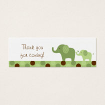 Mod Green Elephant Party Favor Gift Tags