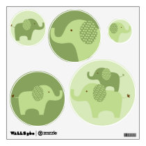 Mod Green Elephant Wall Stickers Decals