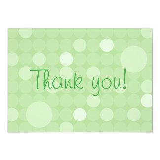 Mod Green Polka Dot Baby Shower Thank You 4.5x6.25 Paper Invitation Card
