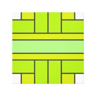 Mod Green Weave Canvas Print