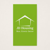 Real estate business cards visiting cards mgdezigns mod green white classy real estate businesscards business card reheart Gallery