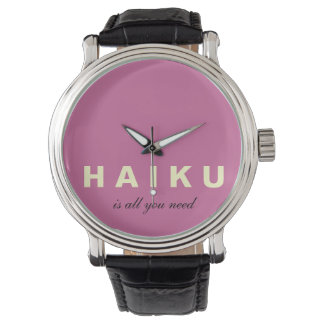 Mod Haiku Is All You Need Leather Strap Watch