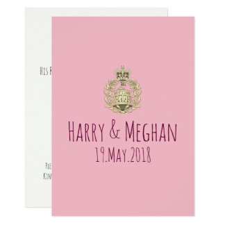 Mod Harry and Meghan Royal Wedding Party Invite