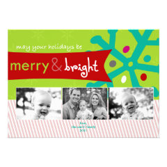Mod Holiday Photo Card